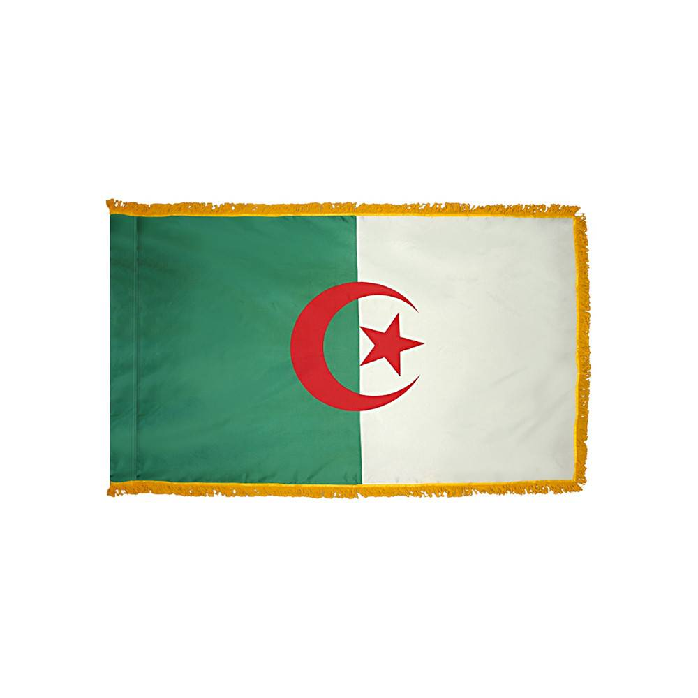 Algeria Flag - Indoor & Parade with Fringe