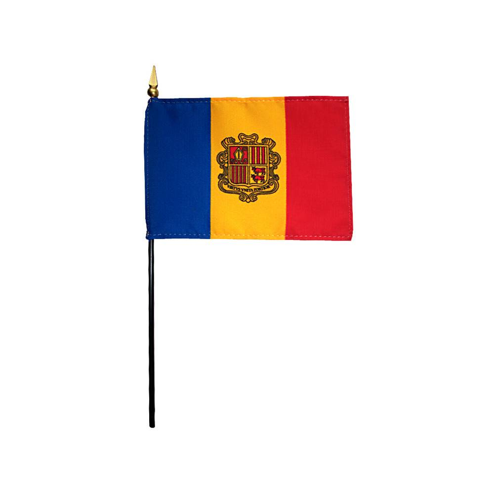 Andorra Stick Flag 4x6 in