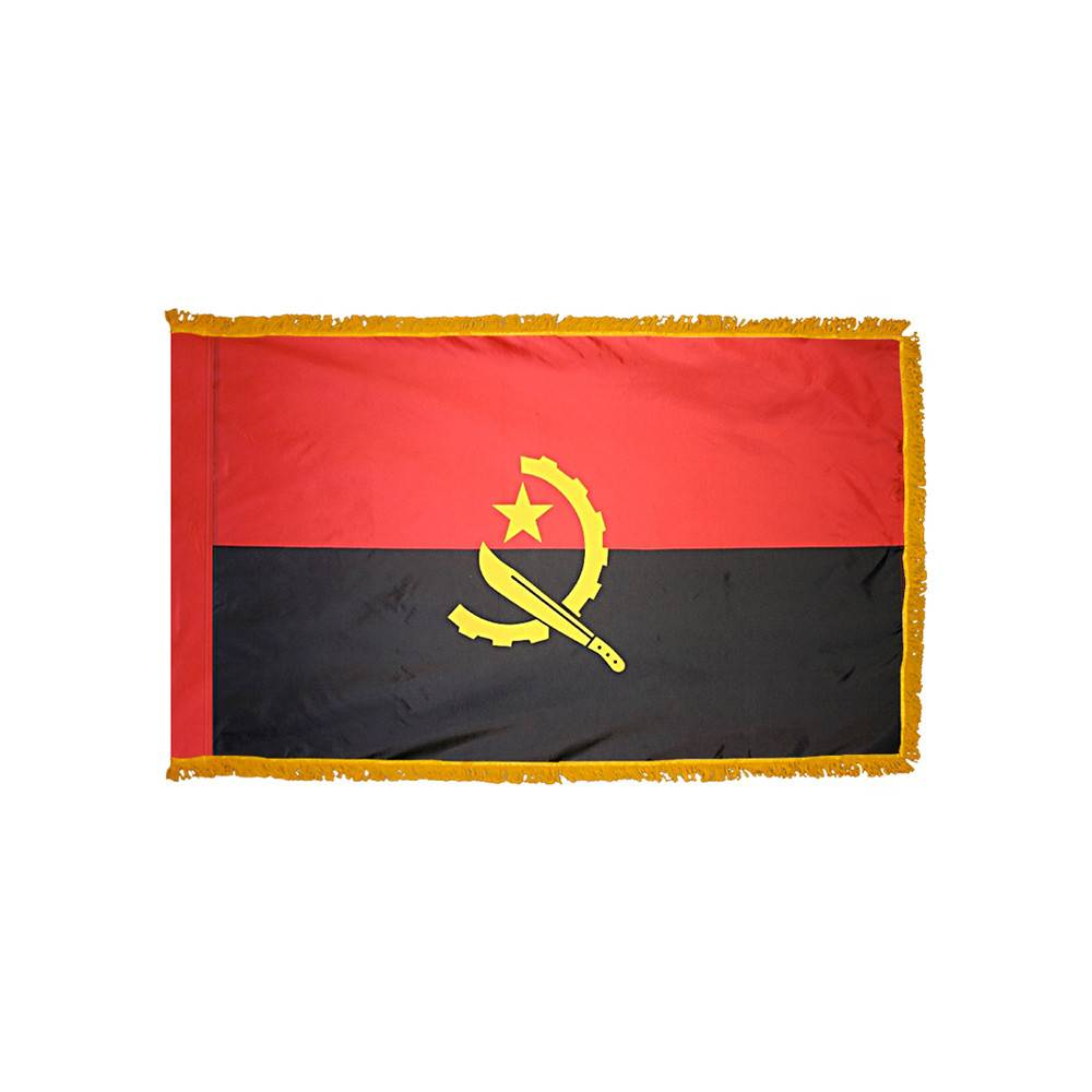 Angola Flag - Indoor & Parade with Fringe