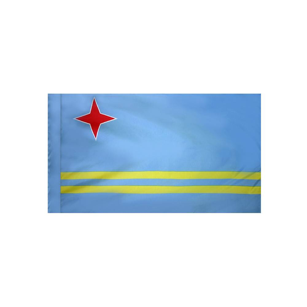 Aruba Flag with Polesleeve