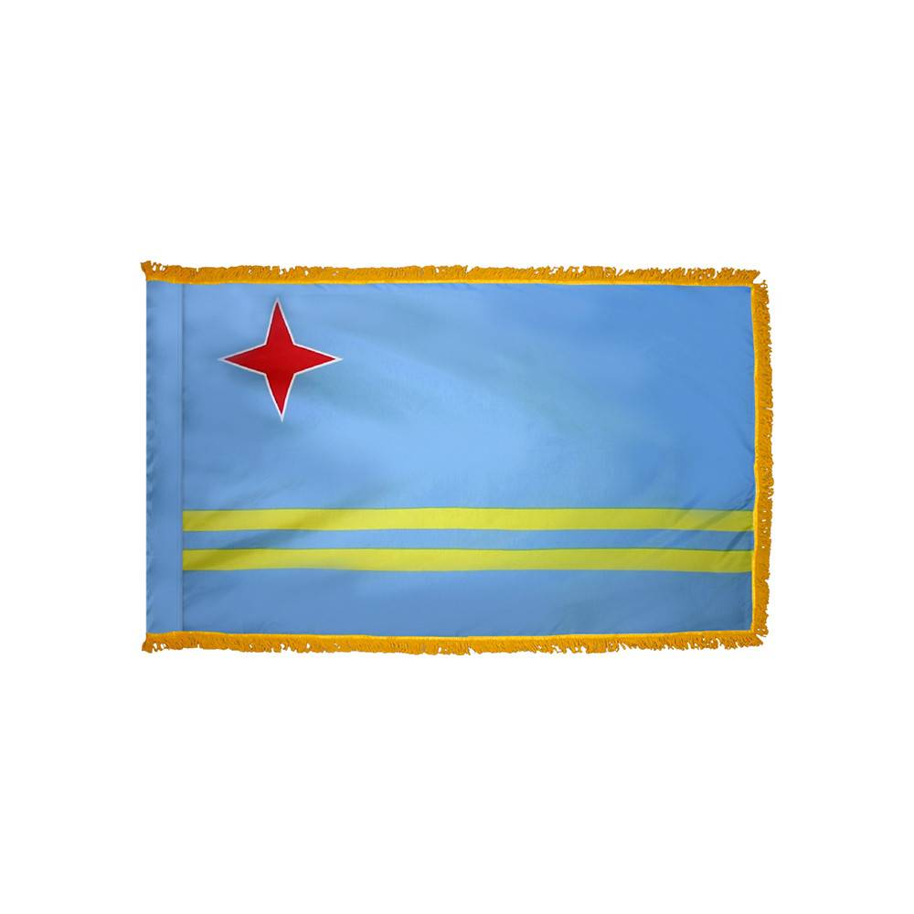 Aruba Flag with Polesleeve & Fringe