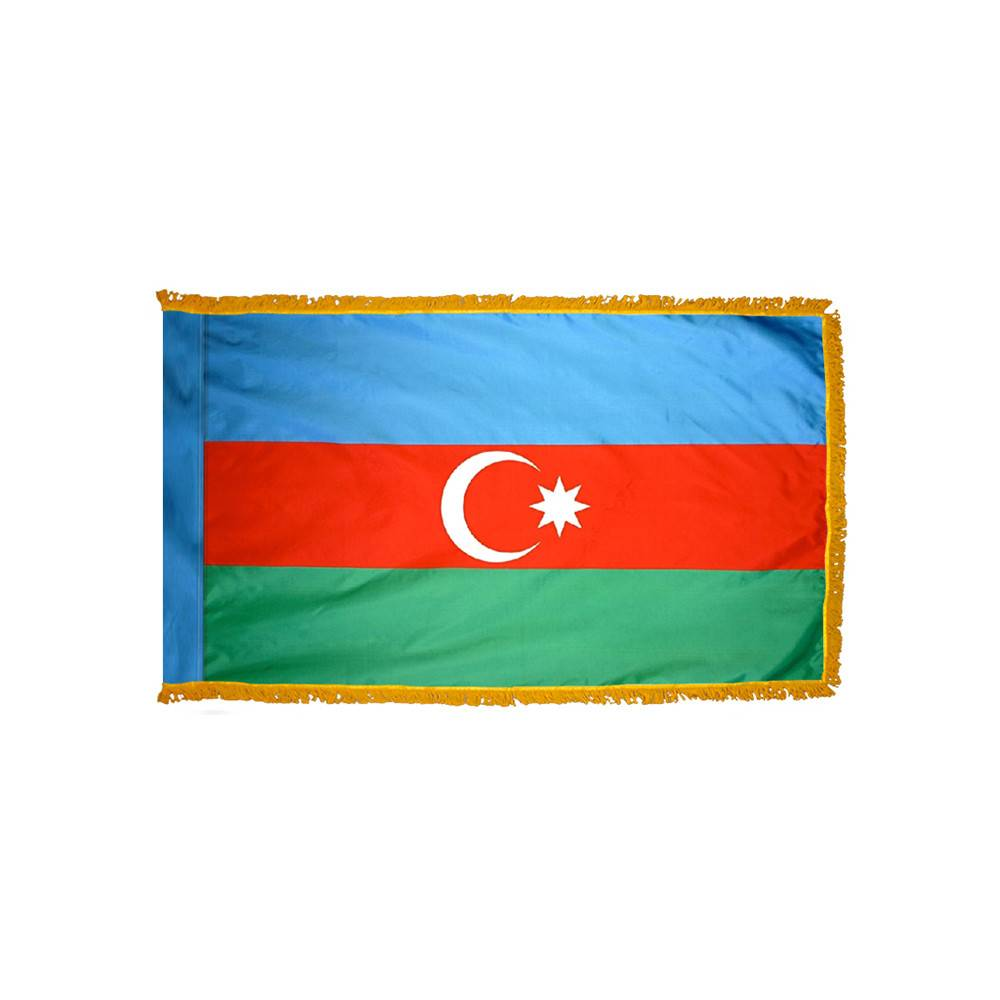 Azerbaijan Flag - Indoor & Parade with Fringe