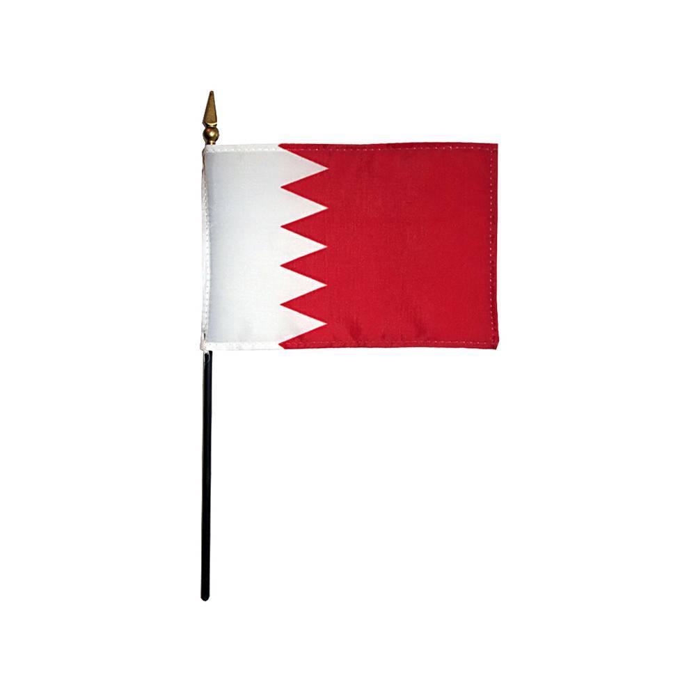 Bahrain Stick Flag 4x6 in