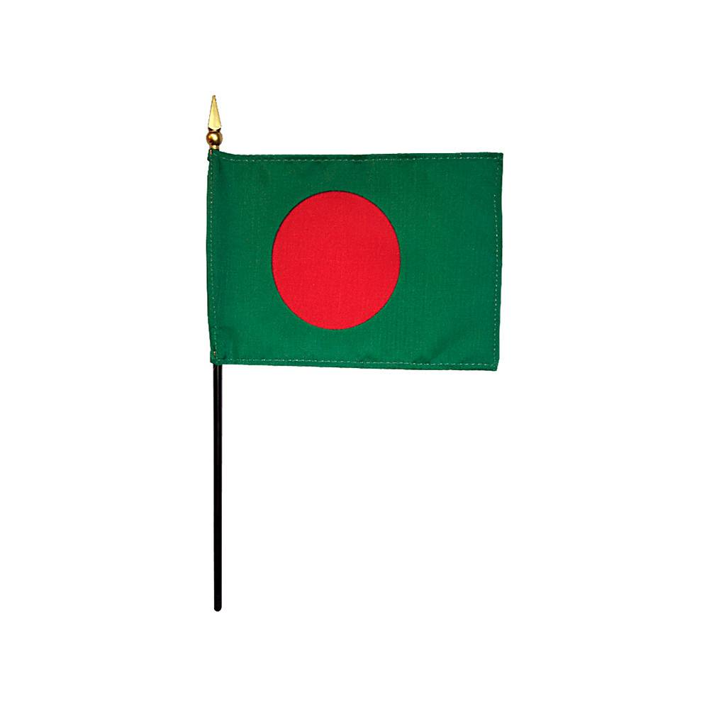 Bangladesh Stick Flag 4x6 in