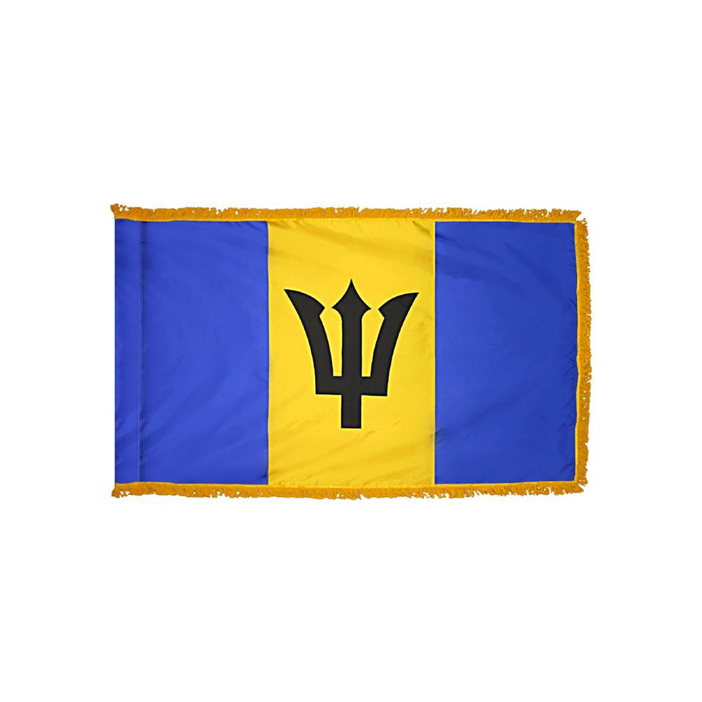 Barbados Flag - Indoor & Parade with Fringe