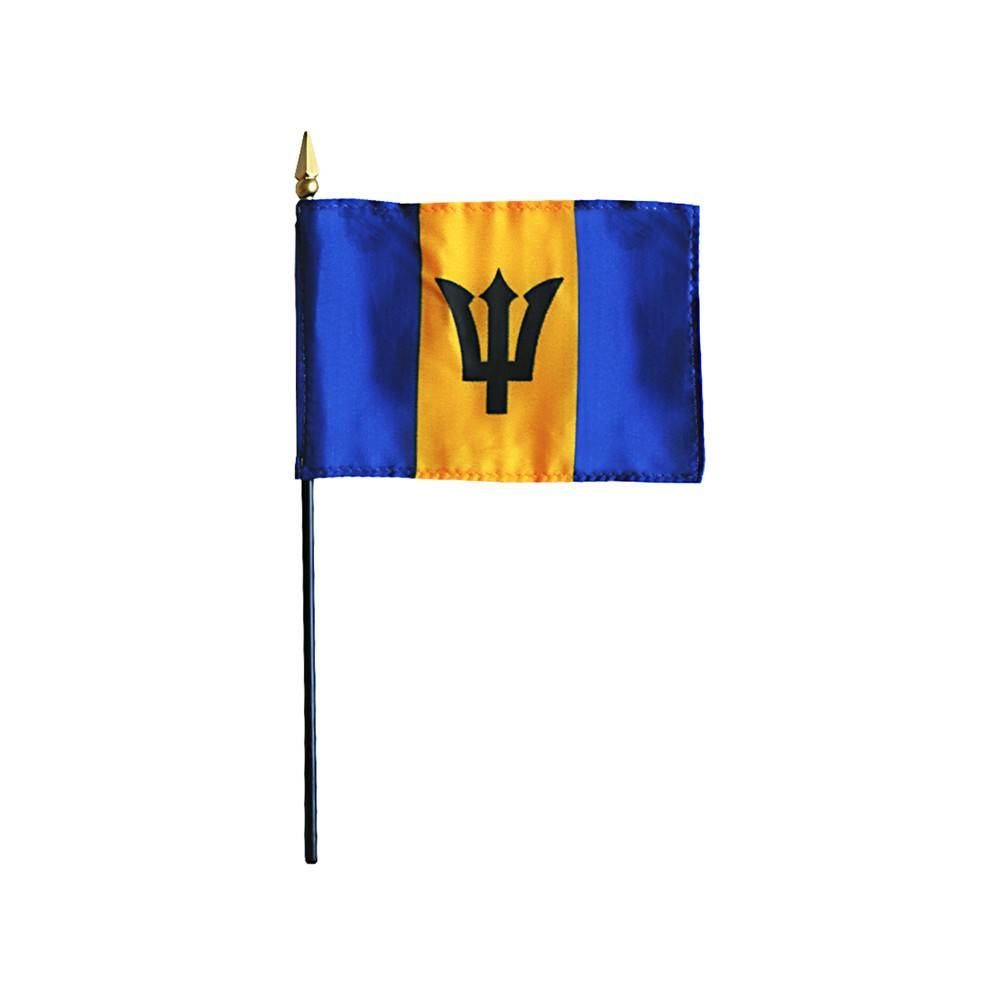 Barbados Stick Flag 4x6 in