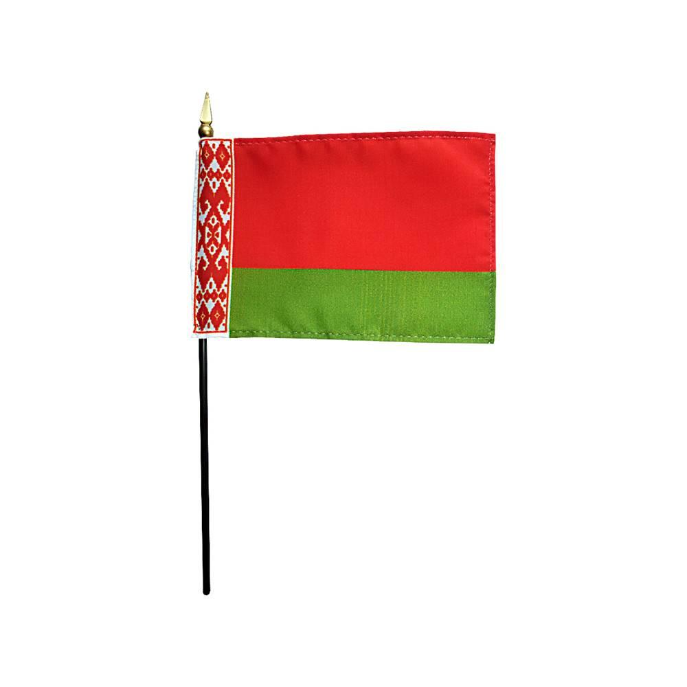 Belarus Stick Flag 4x6 in