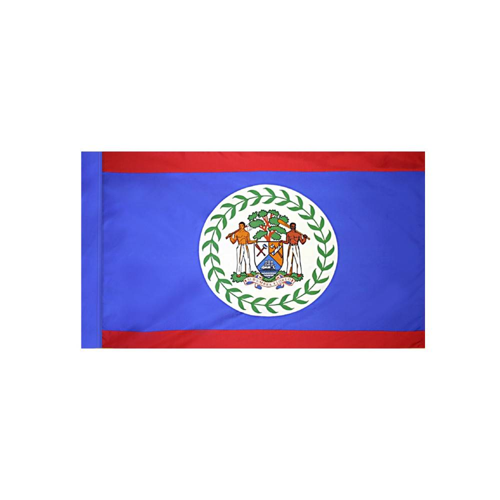 Belize Flag with Polesleeve