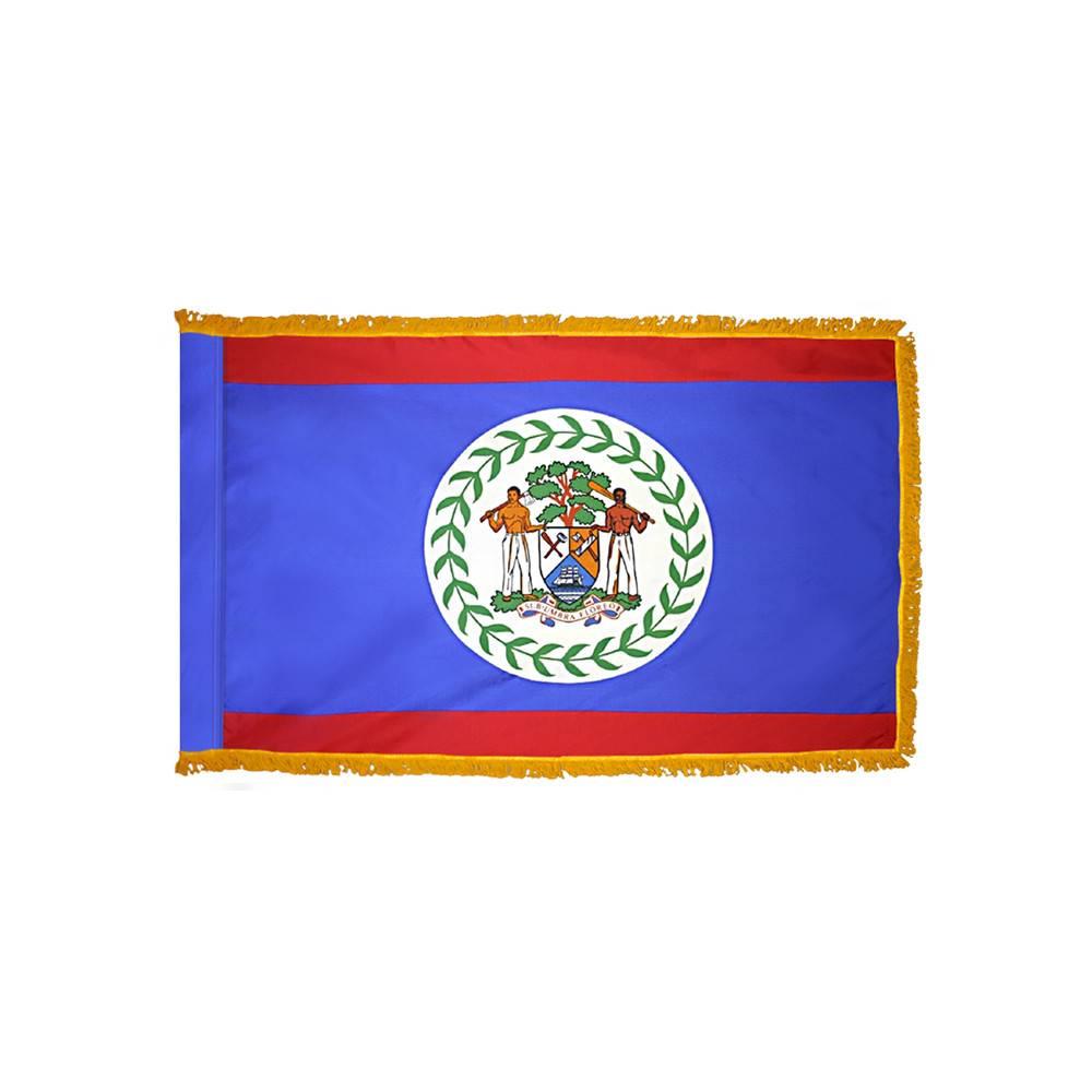 Belize Flag - Indoor & Parade with Fringe