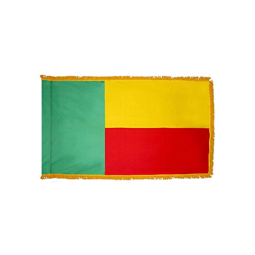 Benin Flag - Indoor & Parade with Fringe