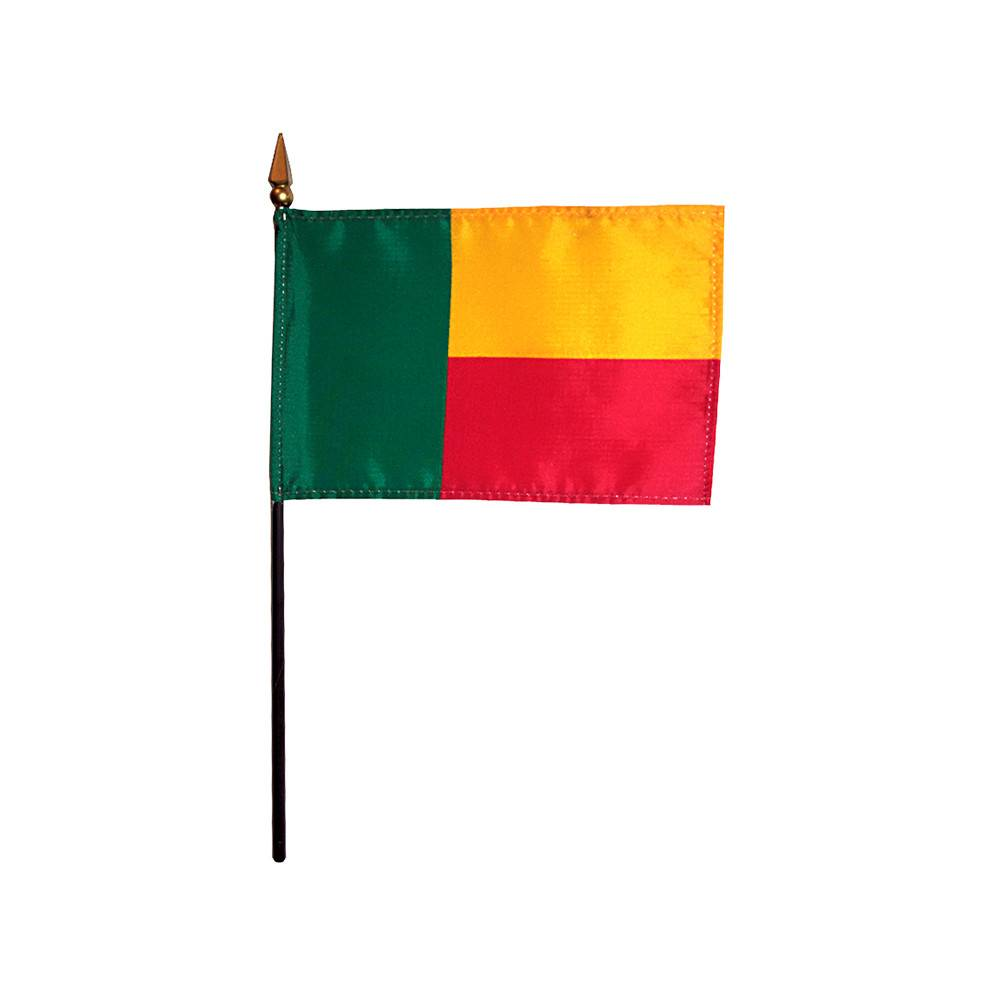 Benin Stick Flag 4x6 in