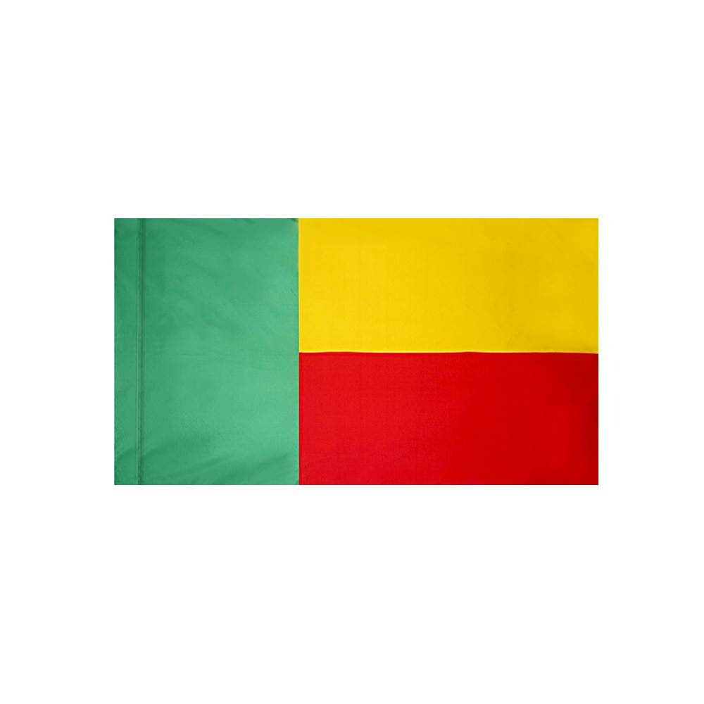 Benin Flag with Polesleeve