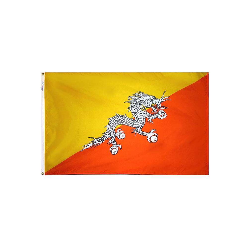 Bhutan Flag - All-Weather Nylon