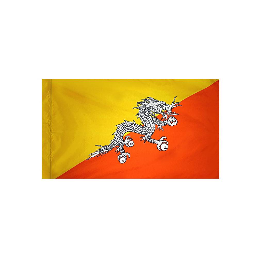 Bhutan Flag with Polesleeve
