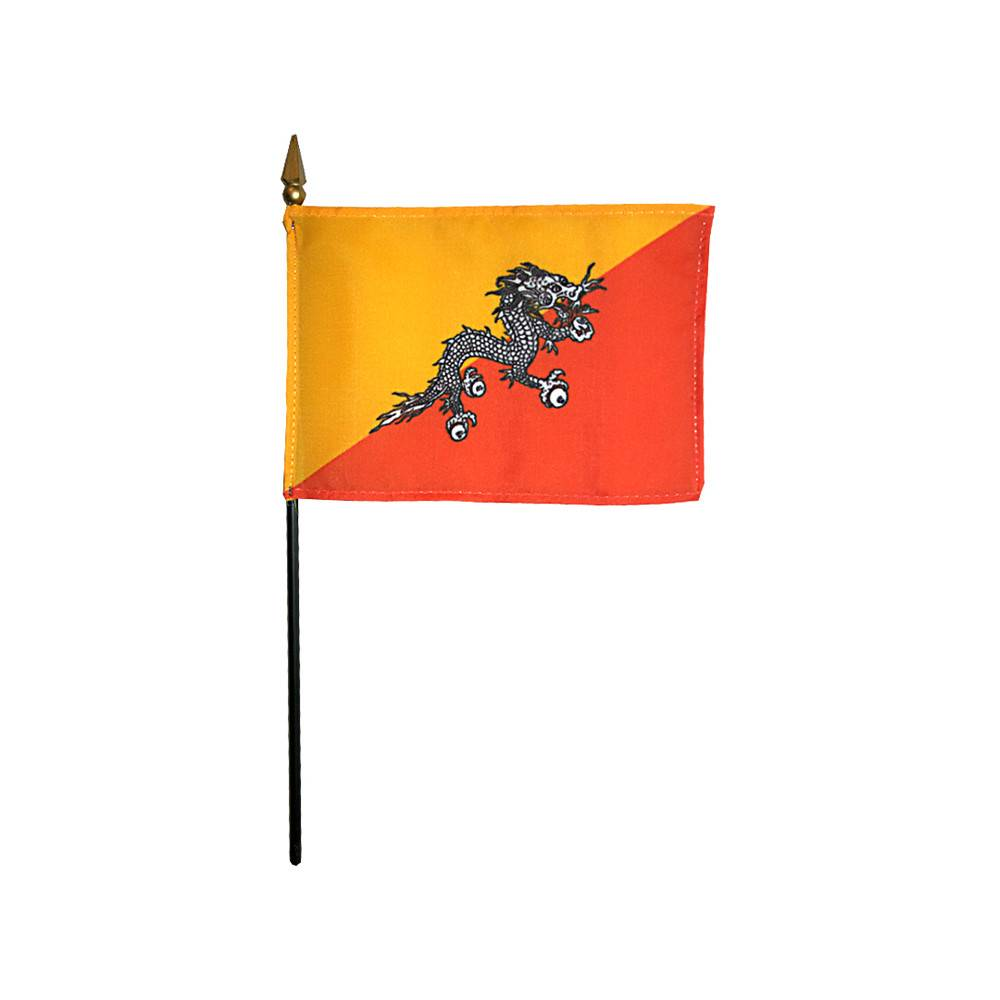 Bhutan Stick Flag