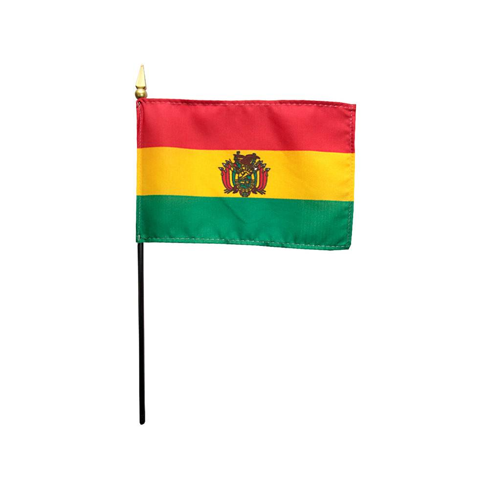 Bolivia Stick Flag 4x6 in