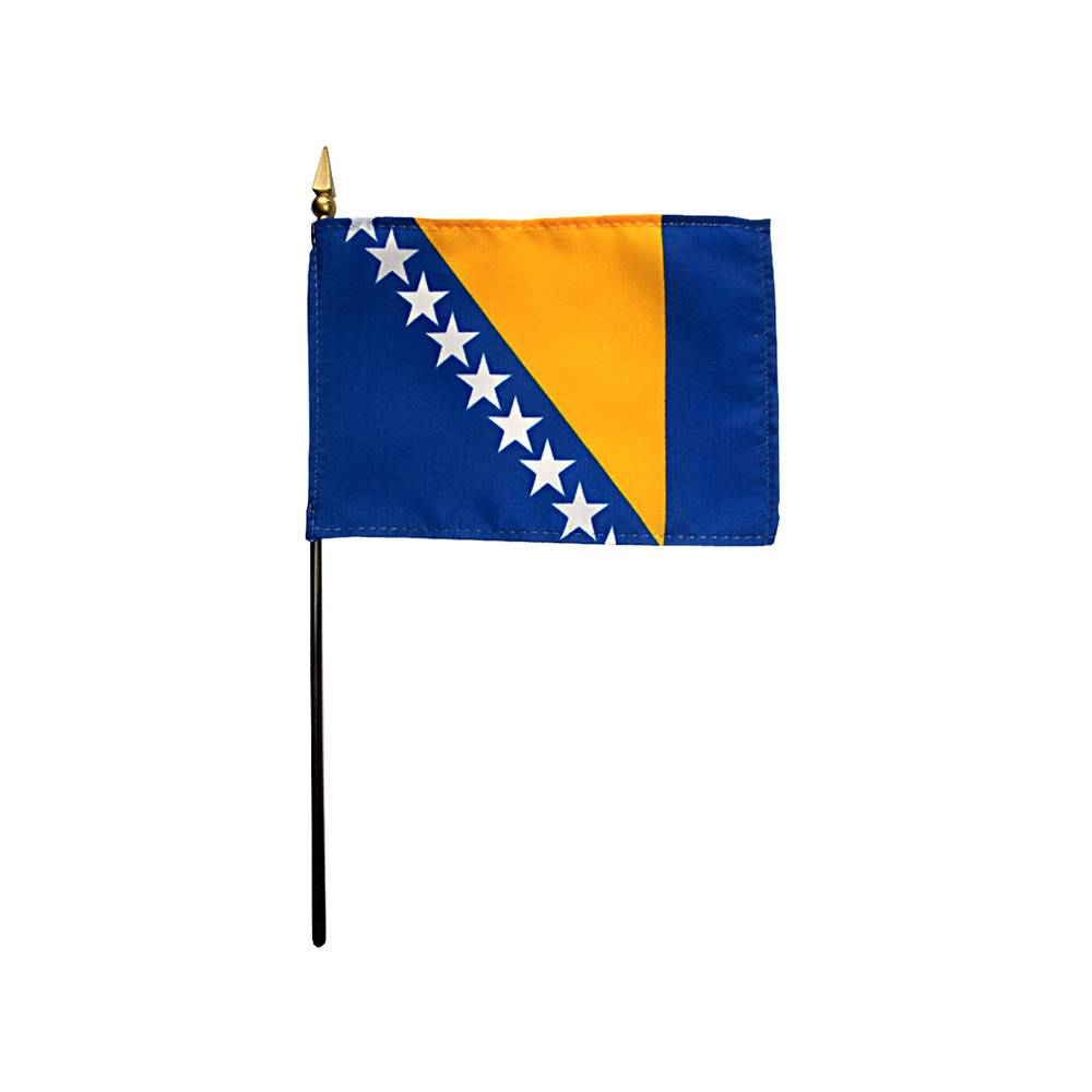 Bosnia-Herzegovina Stick Flag 4x6 in