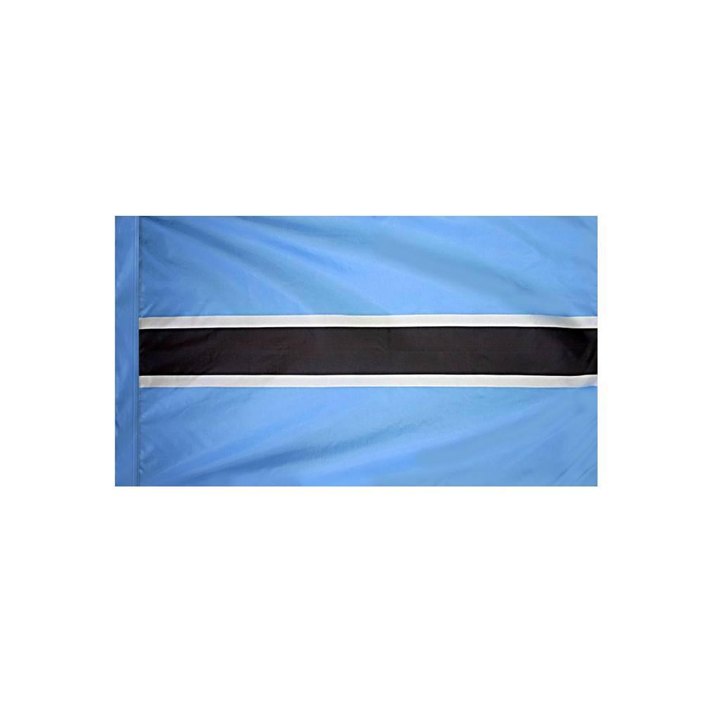 Botswana Flag with Polesleeve
