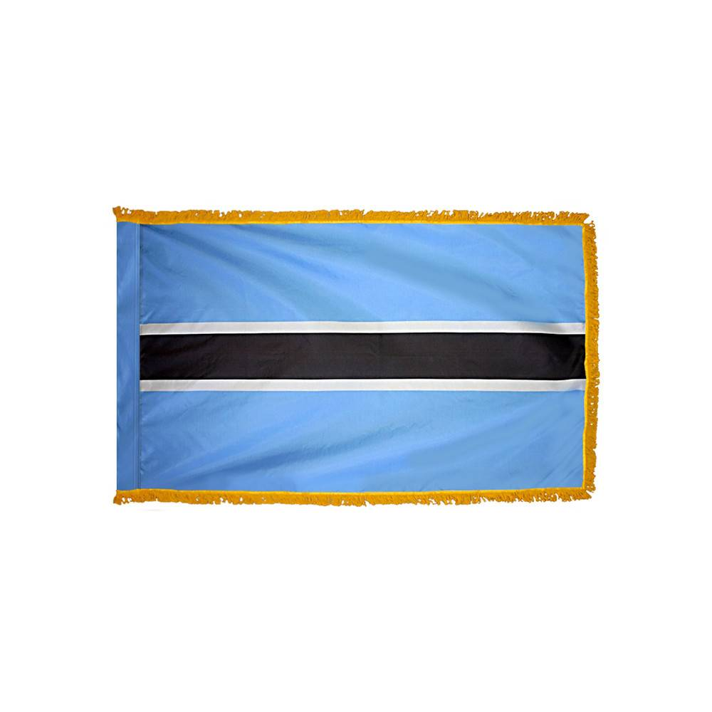 Botswana Flag with Polesleeve & Fringe