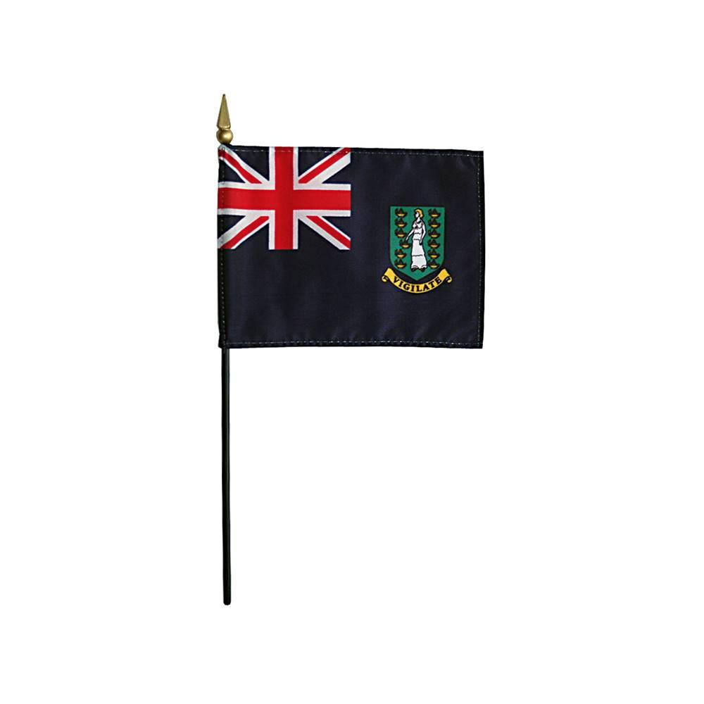 British Virgin Islands Stick Flag 4x6 in