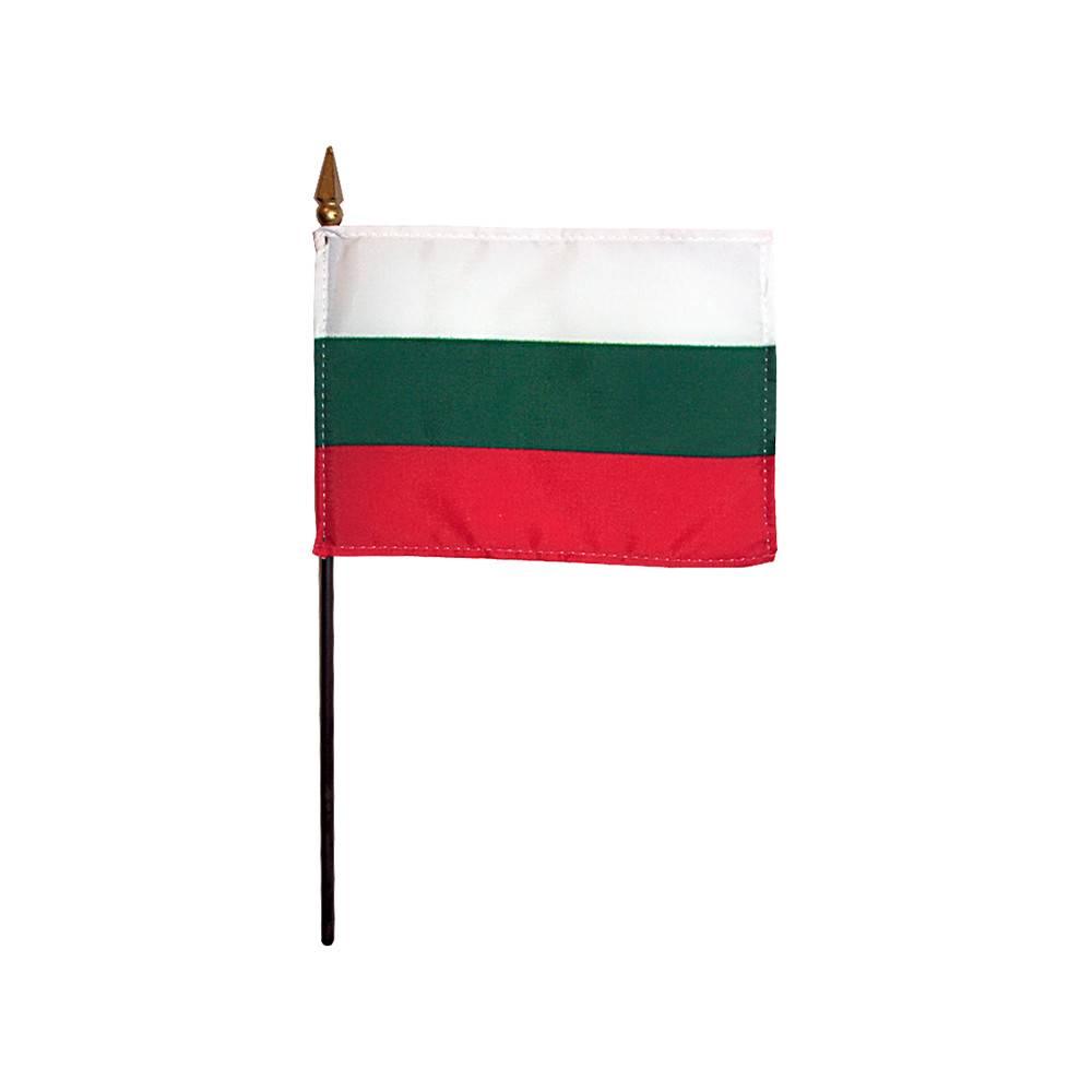Bulgaria Stick Flag 4x6 in
