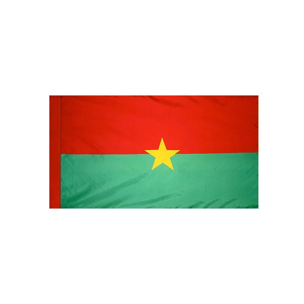 Burkina Faso Flag with Polesleeve