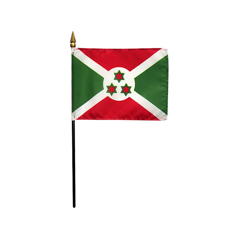 Burundi Stick Flag 4x6 in