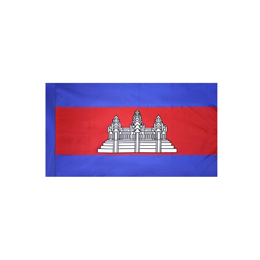 Cambodia Flag with Polesleeve