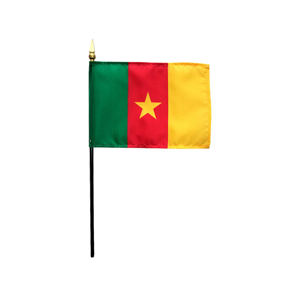 Cameroon Stick Flag 4x6 in