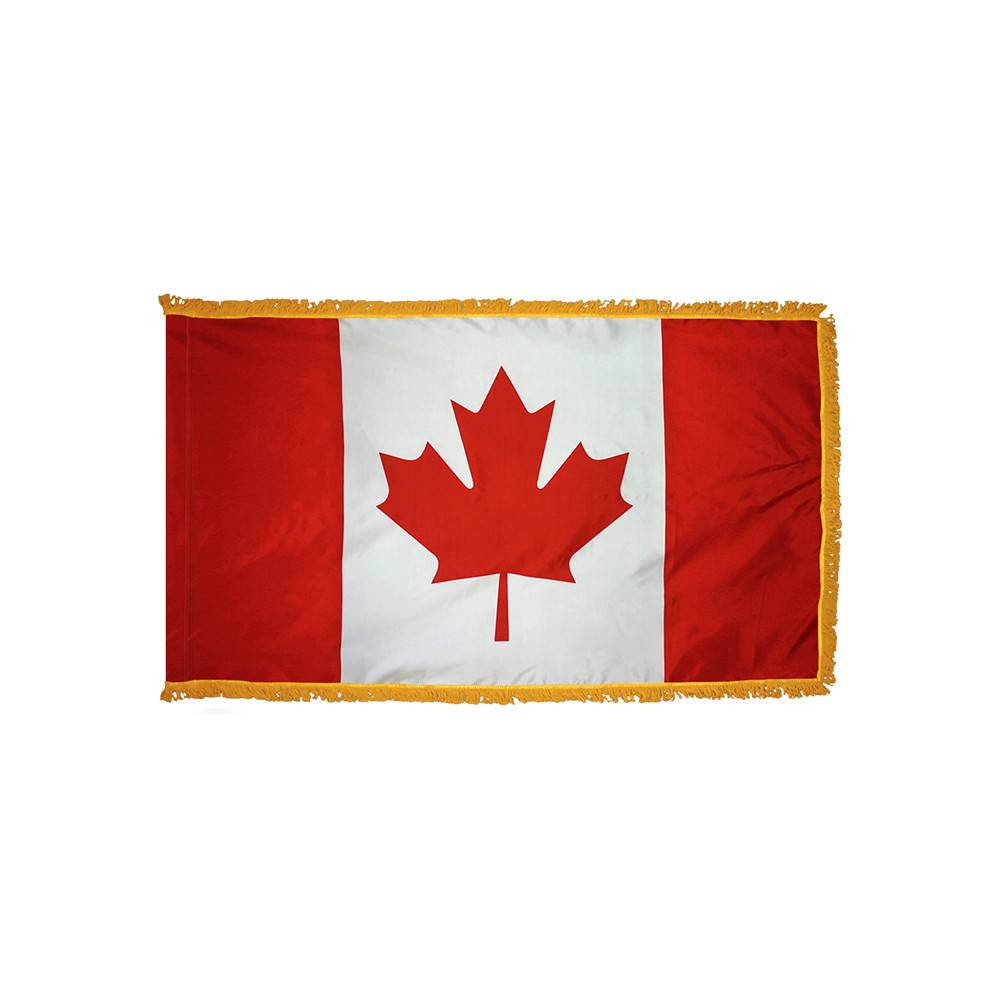 Canada Flag with Polesleeve & Fringe