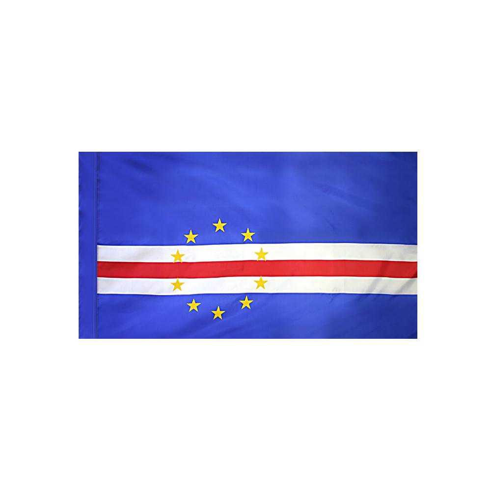 Cape Verde Flag with Polesleeve