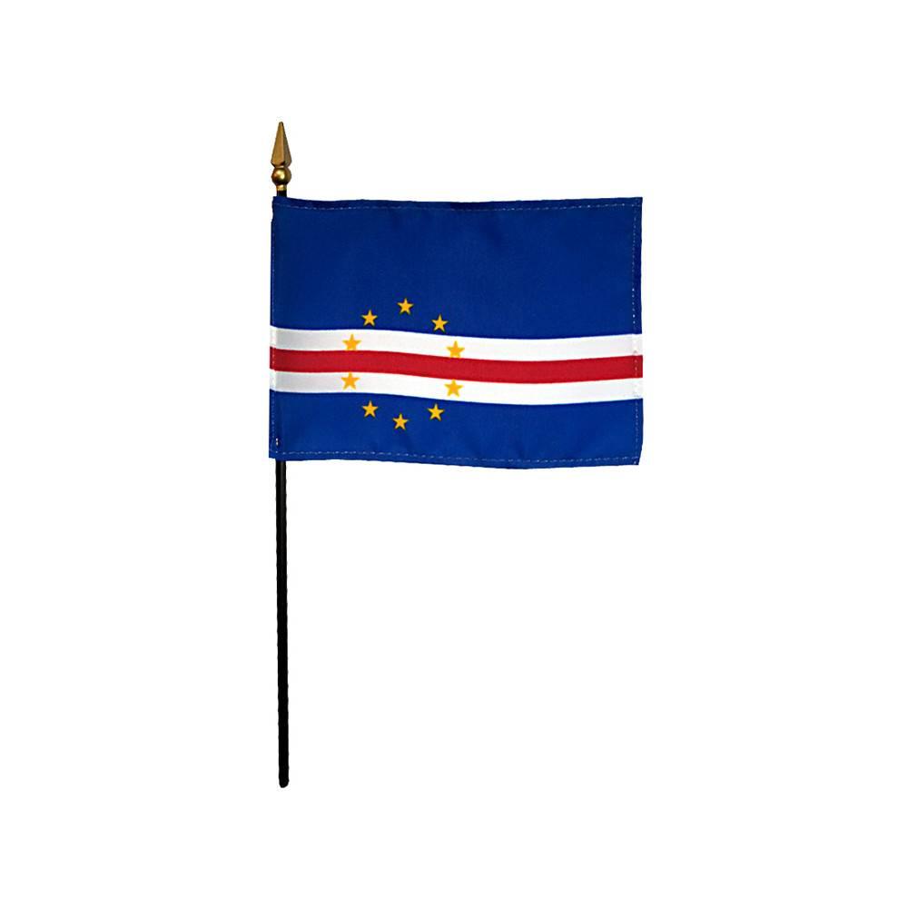 Cape Verde Stick Flag 4x6 in