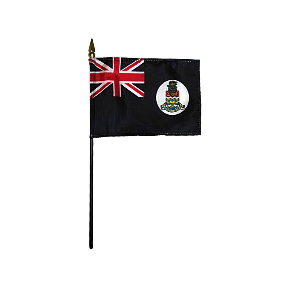 Blue Cayman Islands Stick Flag 4x6 in