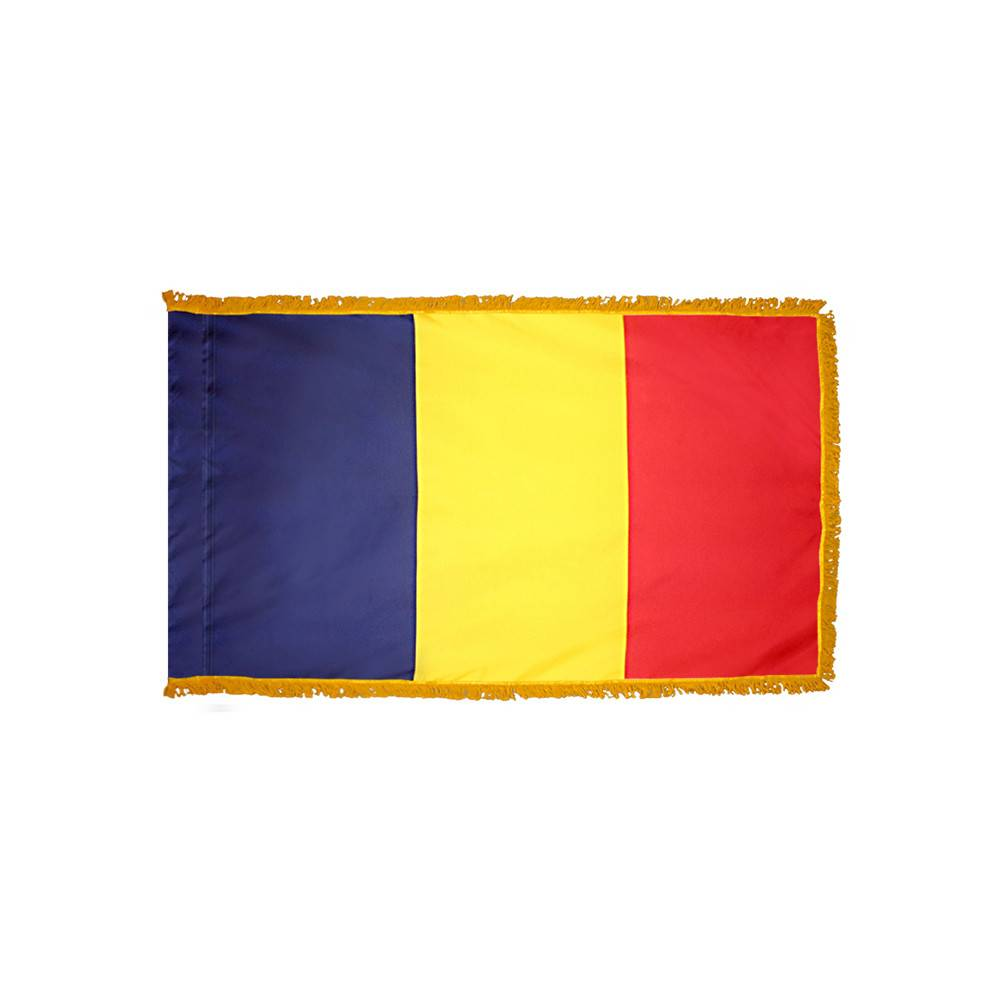 Chad Flag with Polesleeve & Fringe