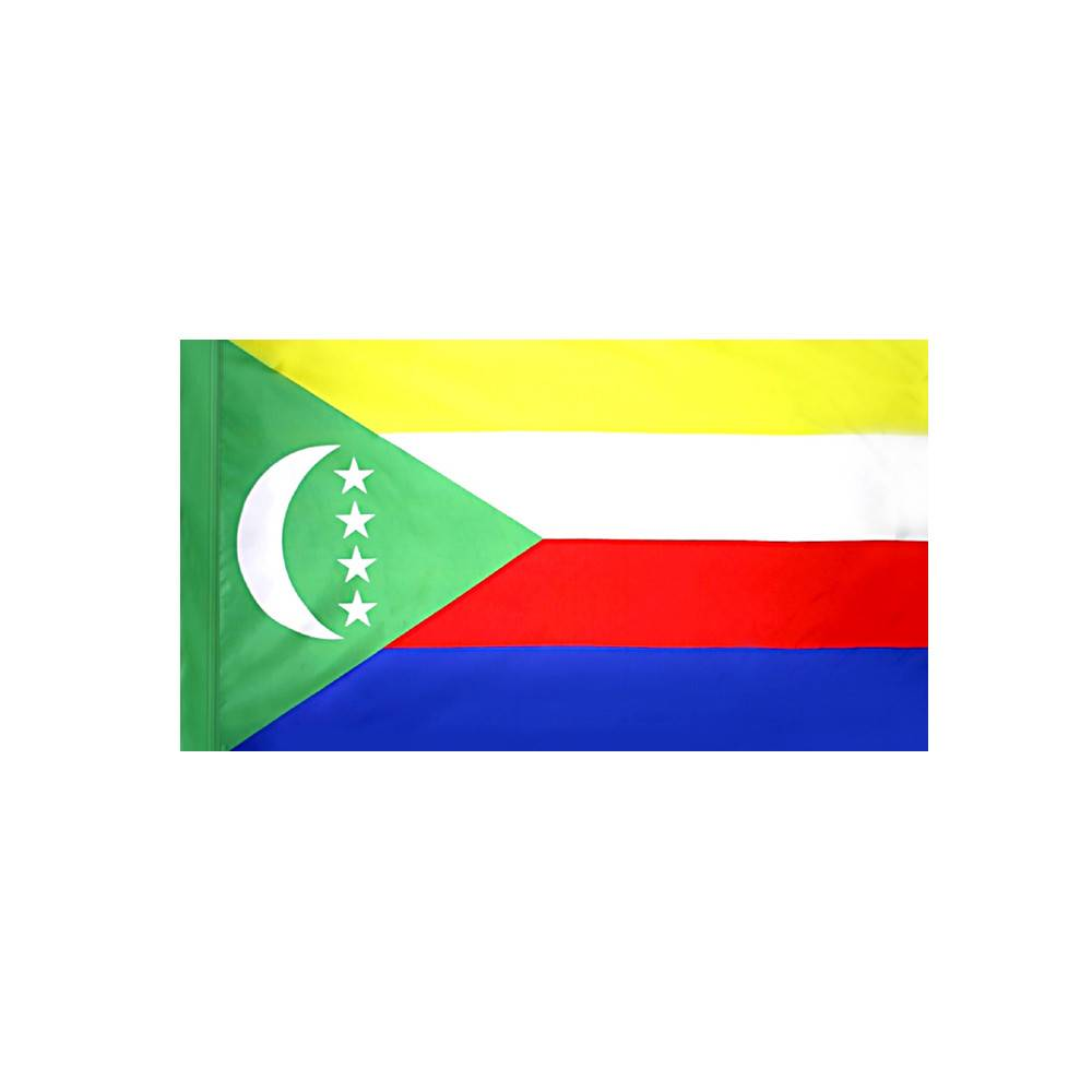 Comoros Flag with Polesleeve