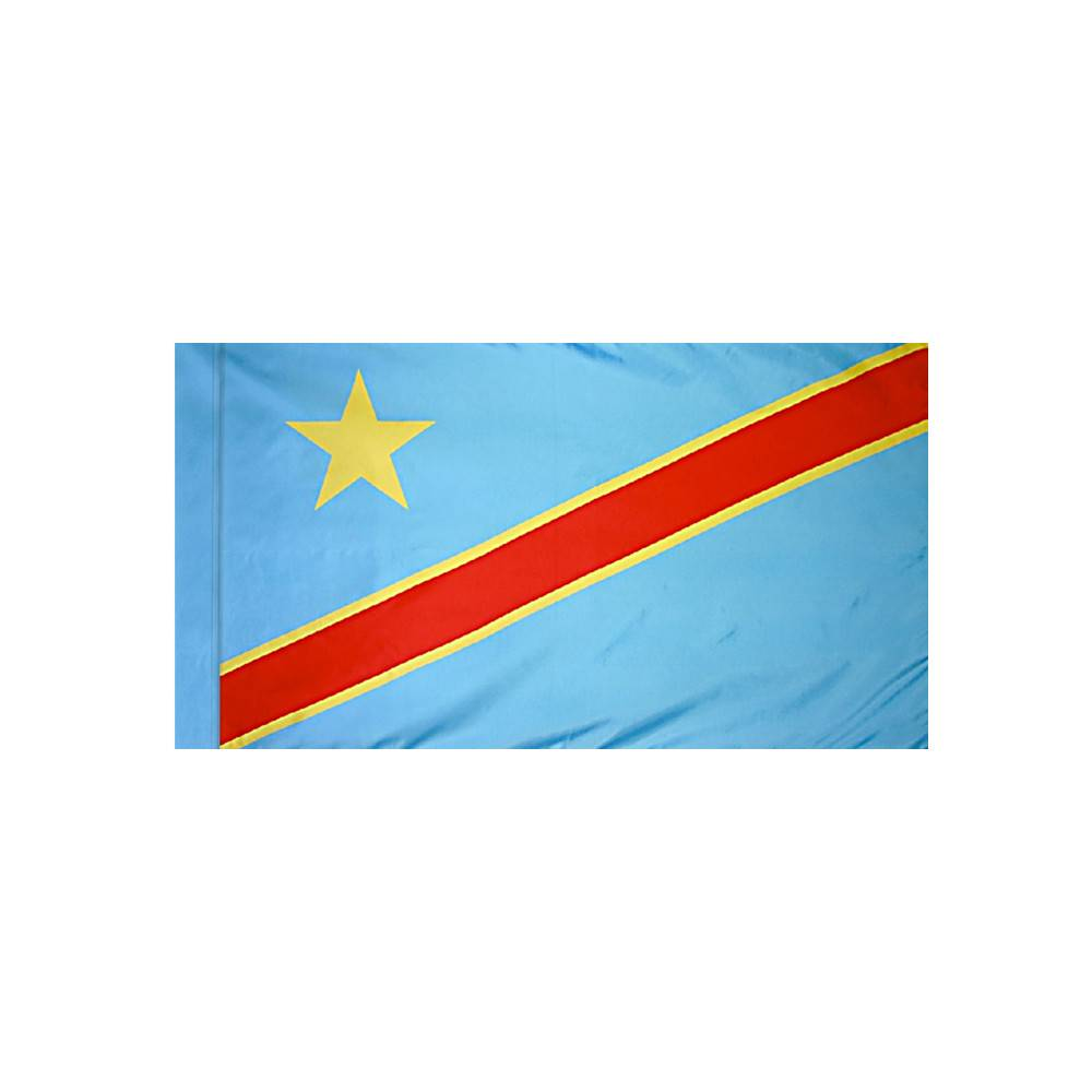 Democratic Republic of the Congo Flag with Polesleeve