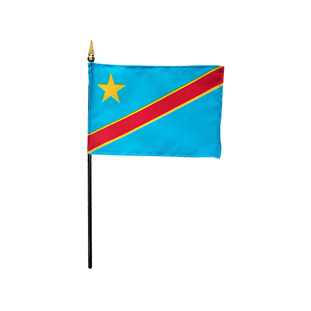 Democratic Republic of the Congo Stick Flag