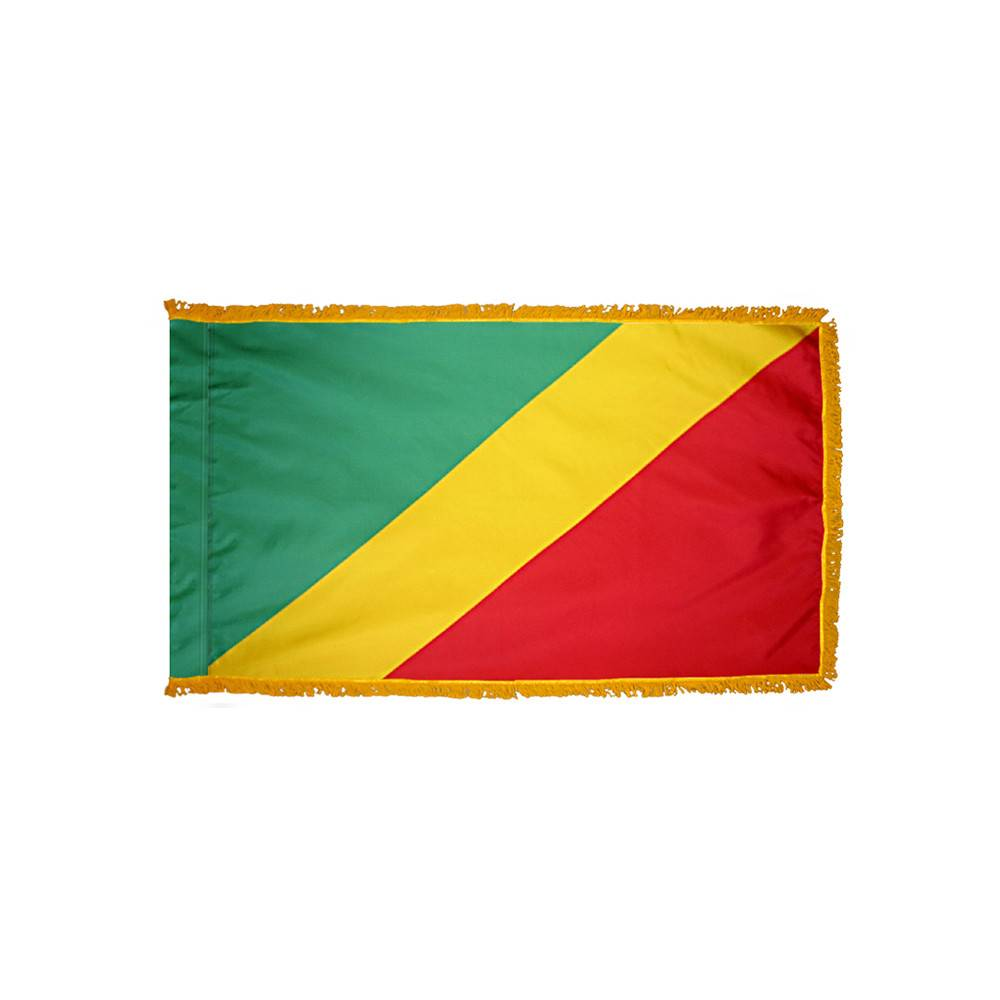 Congo Flag with Polesleeve & Fringe