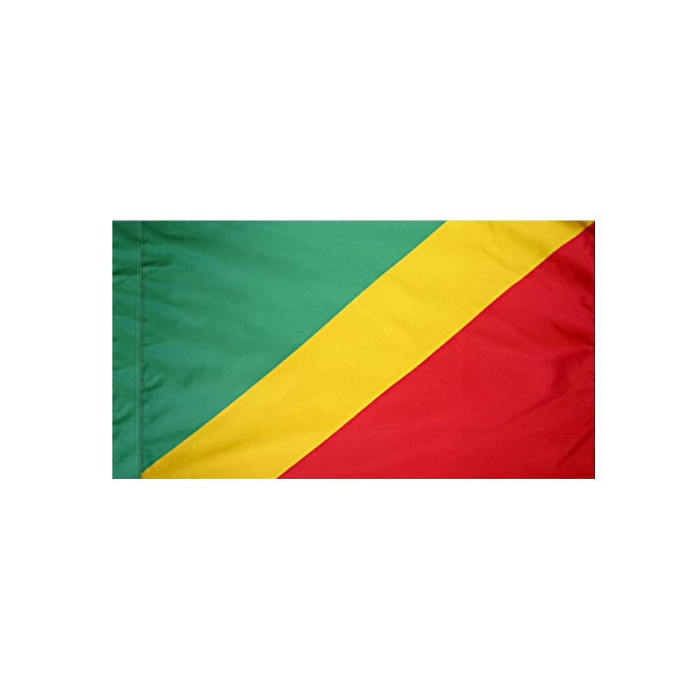 Congo Flag with Polesleeve