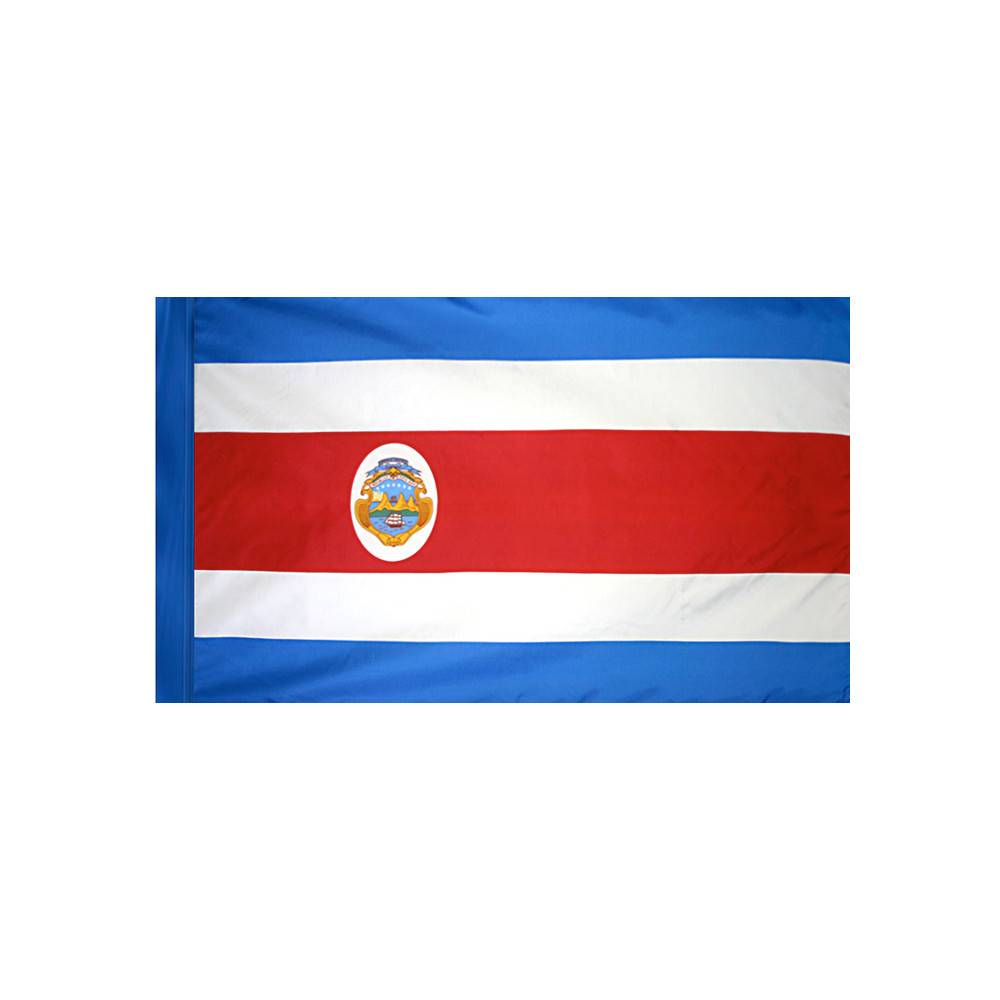 Costa Rica Flag with Polesleeve