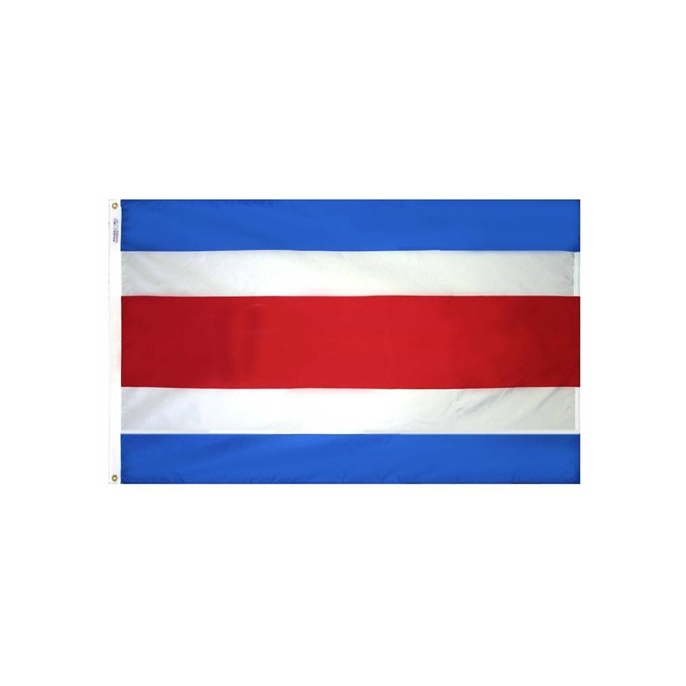 Costa Rica Flag without Seal
