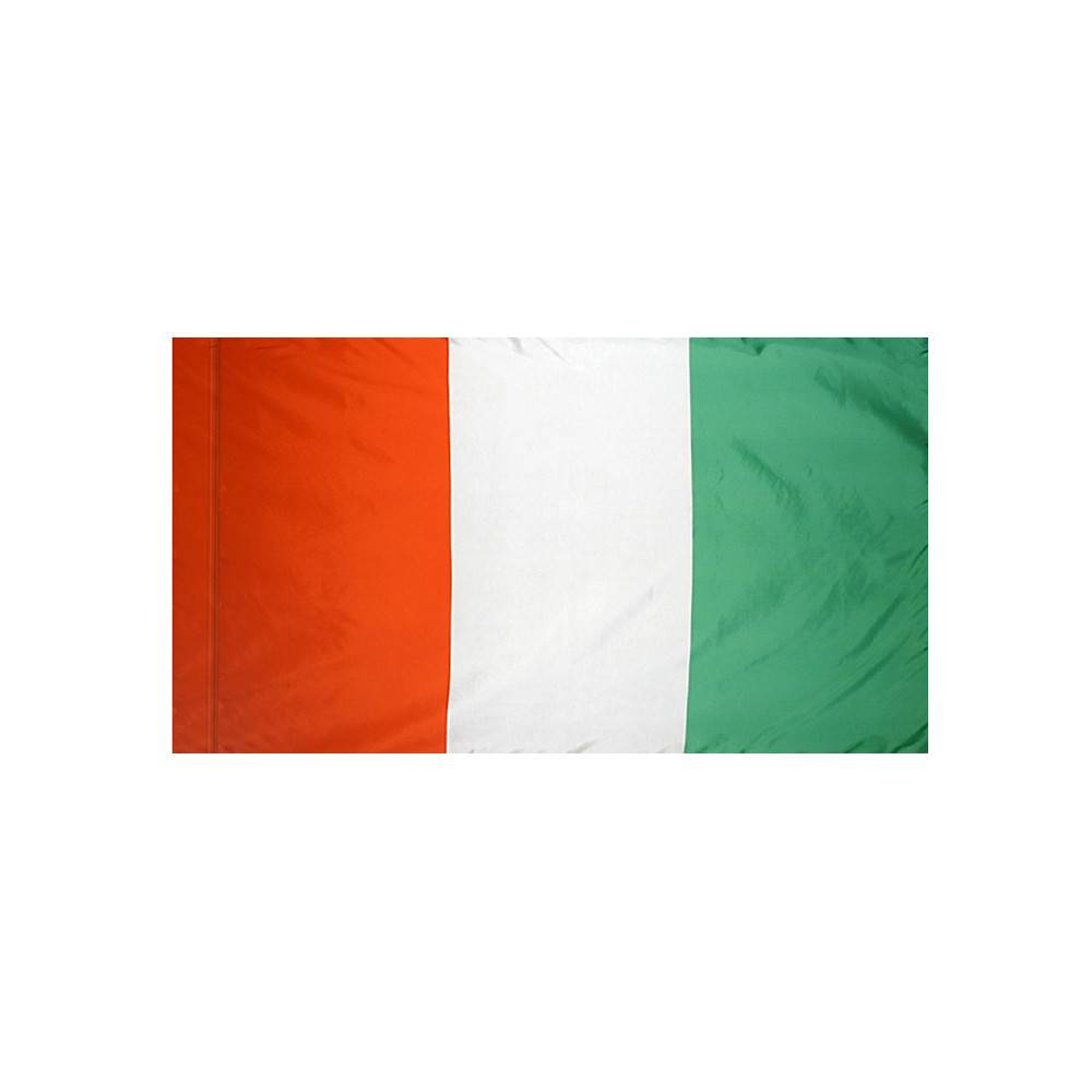 Cote D'Ivoire Flag with Polesleeve