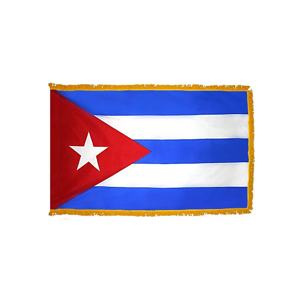 Cuba Flag with Polesleeve & Fringe