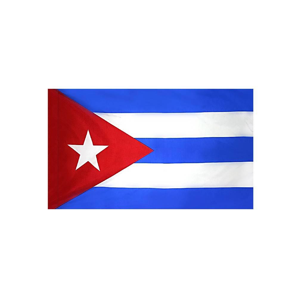 Cuba Flag with Polesleeve
