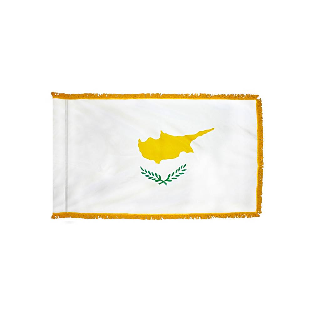 Cyprus Flag with Polesleeve & Fringe
