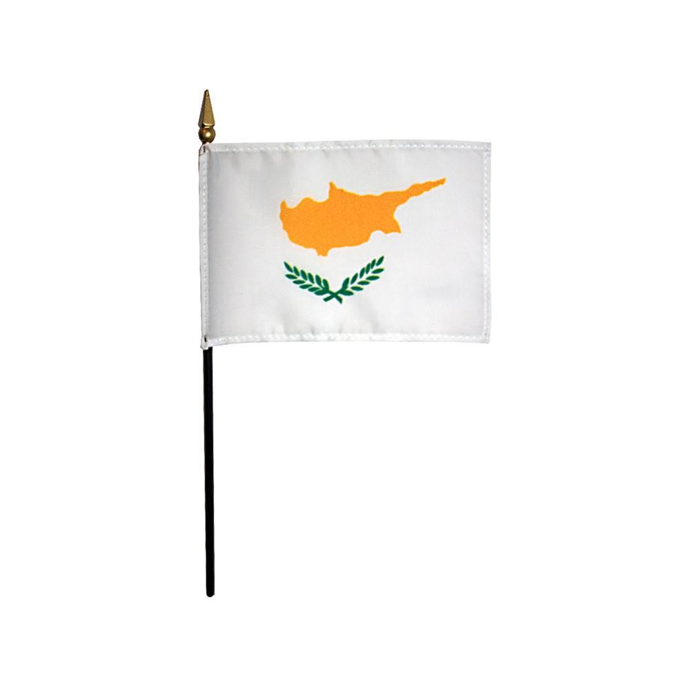 Cyprus Stick Flag 4x6 in