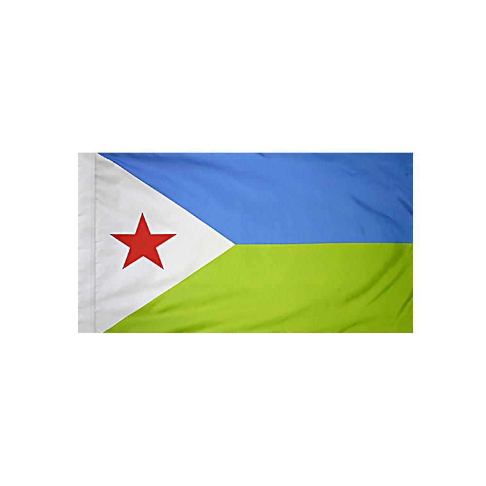 Djibouti Flag with Polesleeve
