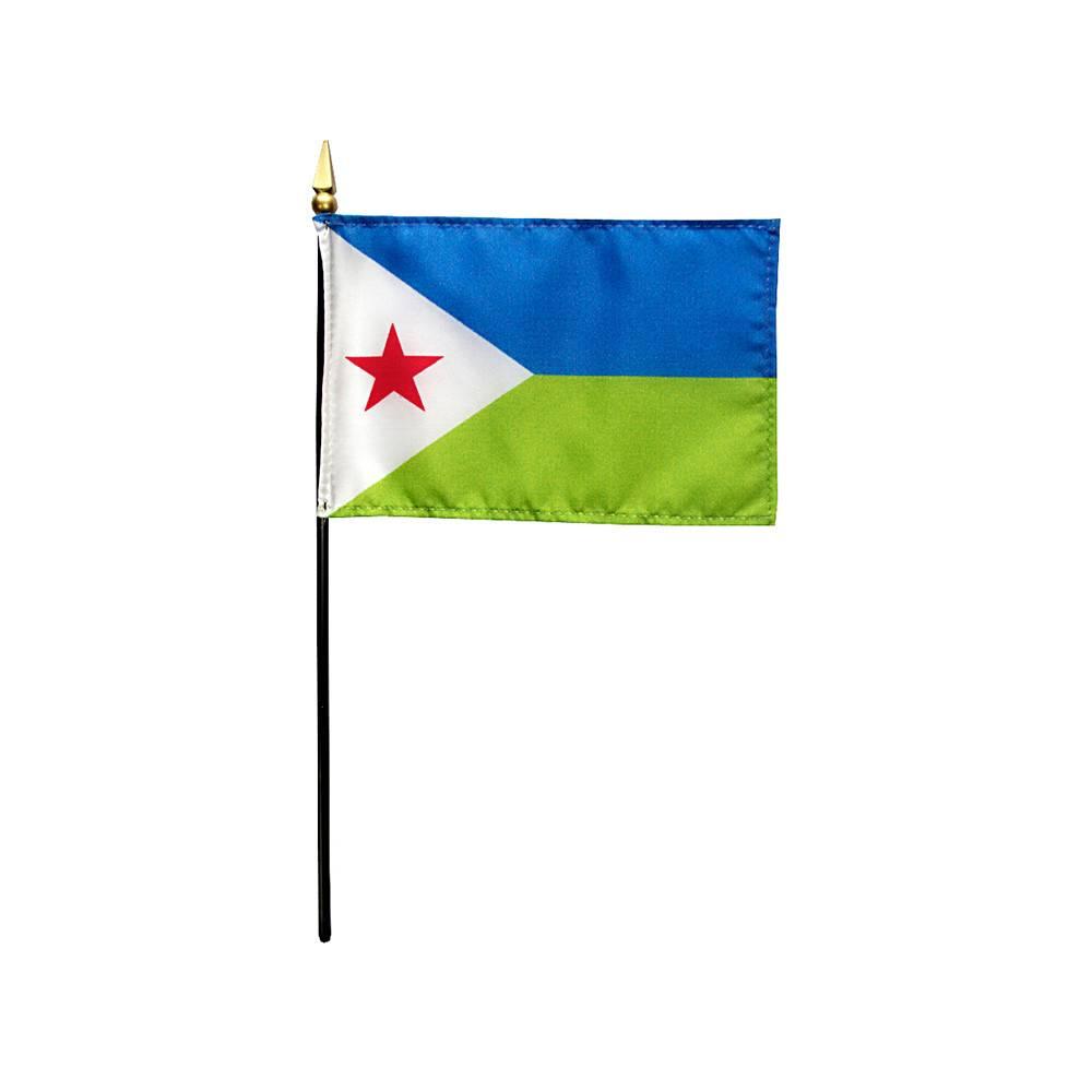 Djibouti Stick Flag 4x6 in