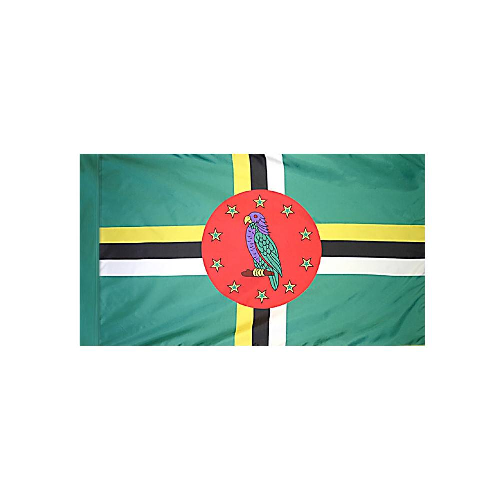 Dominica Flag with Polesleeve