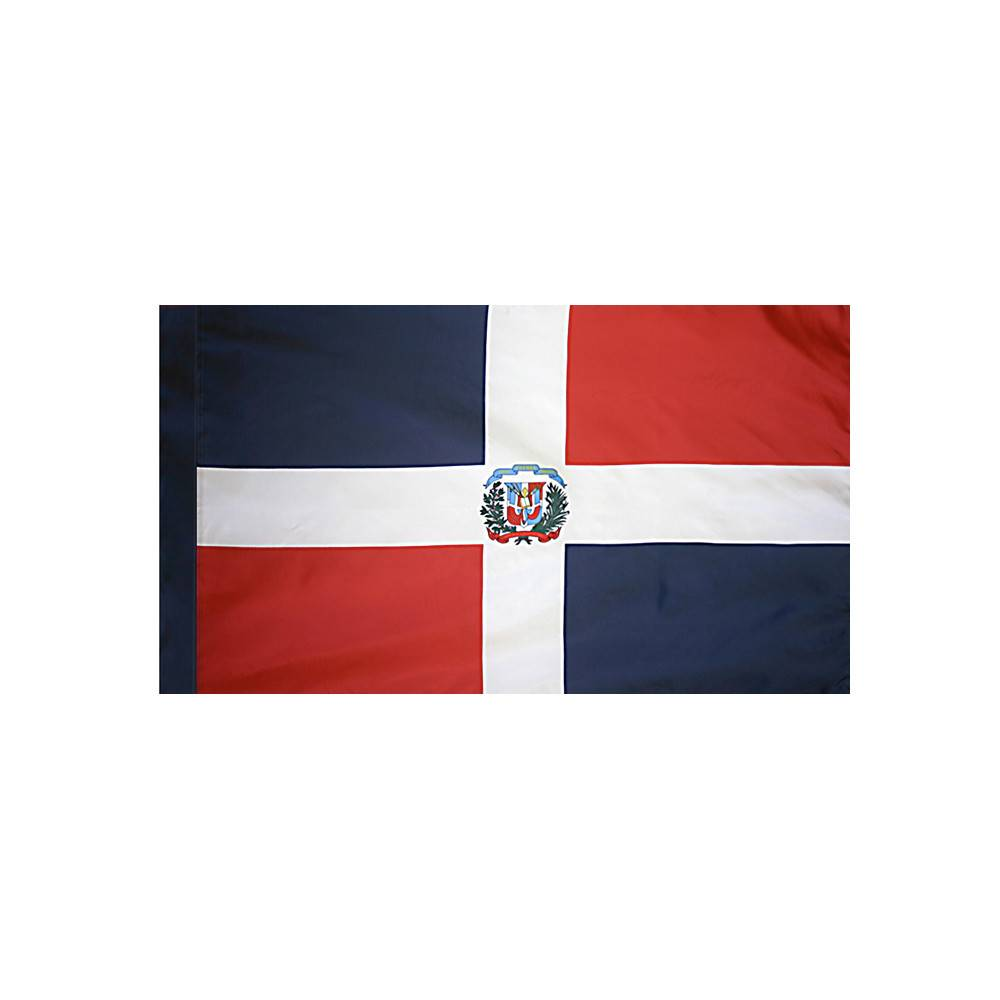 Dominican Republic Flag with Polesleeve